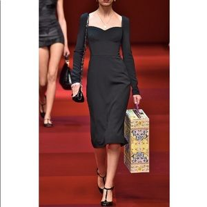 $2695 Dolce&Gabbana Black Sweetheart LBD Dress